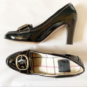 Coach Hillory Crinkle Patent Leather Pumps
